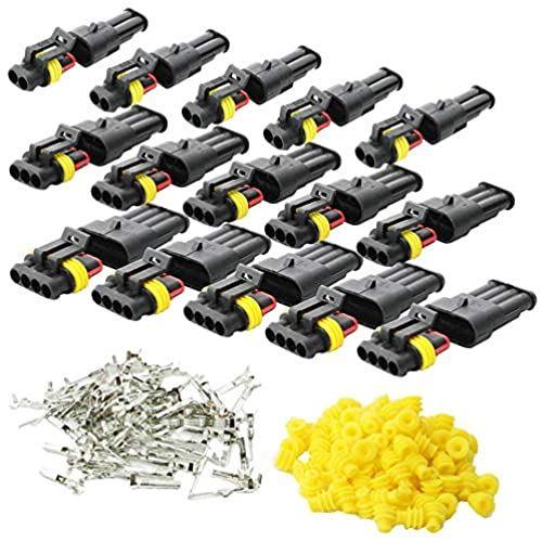 KINYOOO 車の防水コネクタ ブランド買うならブランドオフ 防水電気端子 オートバイスクータートラックマリンプラグソケットキット 4ピン×5キット 3ピン×5キット 2ピン×5キット 超目玉