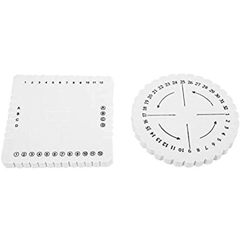 Duokon ウィービングボード セール商品 2個 丸四角くみひもディスク 激安価格と即納で通信販売 ブレスレット手作り織りディスク 丸と四角 マクラメ編組紐