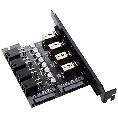 新作 人気 特別セール品 Cablecc 4 ハードディスクコントロールシステム インテリジェントコントロール管理システム HDD PCIブラケット付き SSD電源スイッチ