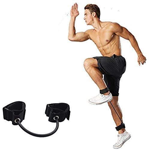 Feishibang 豊富な品 評判 トレーニングレッグレジスタンスバンド 伸縮性ロープ 脚の筋肉を強化 スピードとストライドの長さを増加 フットボール ランニング バスケットボール エクササイズに最適 バレーボール