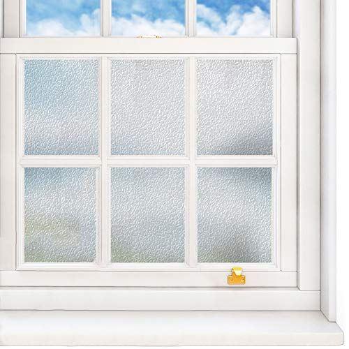 VEELIKE 窓用フィルム めかくしシート ファッション通販 3D すりガラスフィルム 窓ガラスフィルム 40cm x 900cm 外から見えない 40x900cm 防災防犯フィルム 返品交換不可 ... 白のすりガラス調 飛散防止 紫外線カット 台風対策 UVカット 遮熱シート 断熱