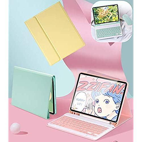 売り込み 2020年最新デザイン iPad Pro 12.9 インチ 2020 5☆好評 キーボード ケース キャンディー色 ペンホルダー付き 第4世代 iPadPro 分離式 人気 アイパッドプロ12.9 12.9インチ 2018 iPadPro12.9 ピンク 女性 保護カバー