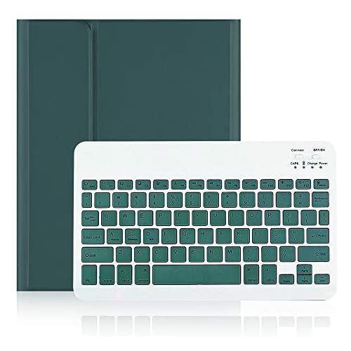 iPad Air4キーボードケース Air4 Bluetoothキーボードカバー 分離式 ペンシル収納 アップルペンシル充電対応 薄型 全面保護 スタンド機能 色鮮やかお洒落 《週末限定タイムセール》 春の新作続々 手帳型 濃い緑