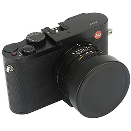 Haoge メタルフロントレンズキャップカバー for ライカ Leica Q Q2 QP 116 交換無料 ブラック Typ116カメラ用 Q-P Typ 激安格安割引情報満載