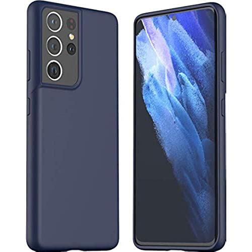 araree 発売モデル Galaxy S21 Ultra 5G 対応 ケース 耐衝撃 シリコン 薄型 スマホケース 対衝撃 Samsung アイテム勢ぞろい ... 携帯ケース 衝撃 吸収 カバー ミッドナイトブルー ソフト 指紋防止 スリム