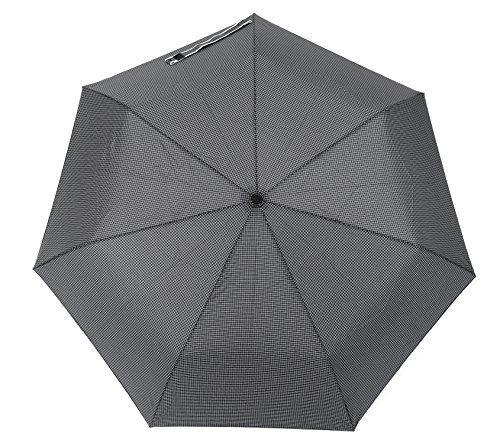 新作入荷 小宮商店 55 自動開閉 海外輸入 耐風晴雨兼用傘 グレー チェック柄 メンズ日傘 グラス骨
