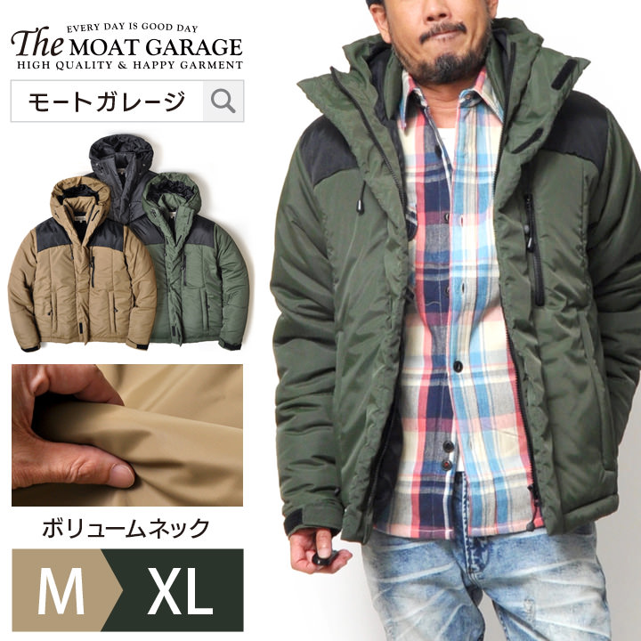 【送料無料】 中綿 ジャケット メンズ | アウター アウトドア アメカジ 大きいサイズ ゆったり M L XL LL 2L ブラック オリーブ ベージュ 黒 おしゃれ かっこいい おすすめ 人気 暖かい 冬 冬服 冬物 ブルゾン 防寒 ジャンパー メンズファッション
