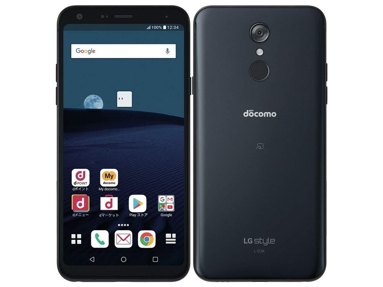 docomo L-03K 本体 SIMフリー 新品未使用 正規SIMロック解除済み LG style ブラック Black 一括購入品 ネットワーク利用制限〇