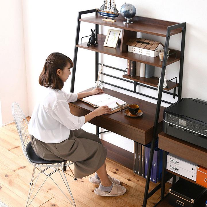 【割引クーポン配布中】【上部収納付き】 2WAY パソコンデスク WAYBECK(ウェイベック) 高さ調整 薄型デスク KKS-0014 パソコンデスク パソコンラック パソコン机 (大型)