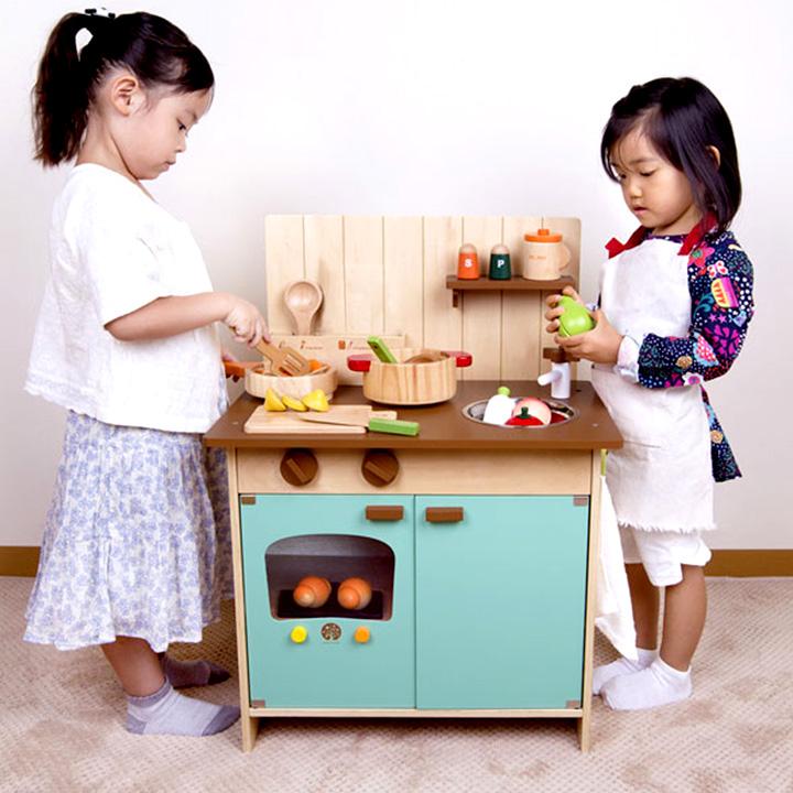 【安心の正規品/Myエプロン付き】はじめてのおままごと Myキッチン ままごと おままごと 誕生日プレゼント クリスマスプレゼント ままごとセット 子供用 おもちゃ オモチャ ボウル付 知育 玩具 木製 CE STマーク
