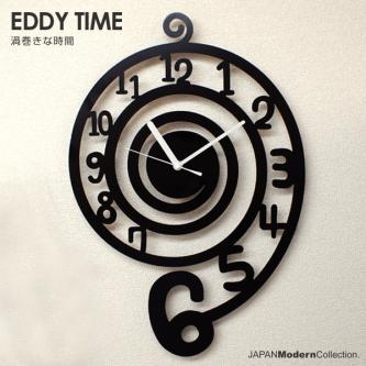 【割引クーポン配布中】時計 EDDY TIME ウズマキ time 壁掛け デザイナーズ ユニーク 置時計 とけい お洒落 おしゃれ オシャレ インテリア