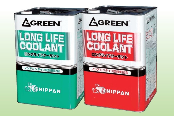 ノンアミンタイプ防錆剤配合 GREEN グリーン ハイクオリティ ロングライフクーラント KG55-245 豊富な品 NIPPAN ニッパン LLC 赤 18L