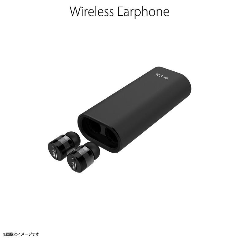 ワイヤレスイヤホン Bluetooth BI9918【9185】 Beat-in Power Bank 4.1対応 両耳 完全独立型 超小型 軽量 高音質 バッテリーケース Black Edition ブラックロア・インターナショナル【宅配便送料無料】【代引不可】