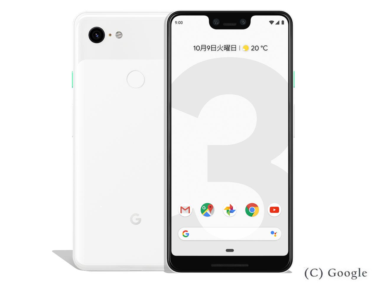 【新品・白ロム・本体】SIMロック解除済 ドコモ Google PIXEL3XL クリアリー ホワイト 128GB Pixel 3 XL スマートフォン DOCOMO google pixe3xl ホワイト PIXEL3XL 128GB 携帯電話 WHITE