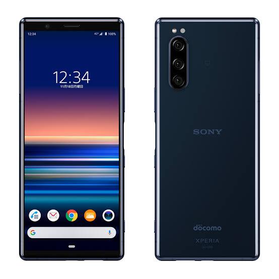 【新品・白ロム・本体】SIM ロック解除済みdocomo Xperia 5 SO-01M ブルー BLUE blue スマートフォン 携帯電話 SO-01M