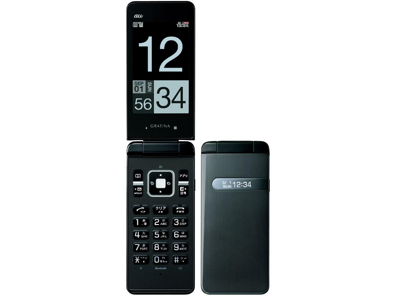【新品・白ロム・本体】AU GRATINA KYY06 ブラック 携帯電話 ガラケーKYY06 black