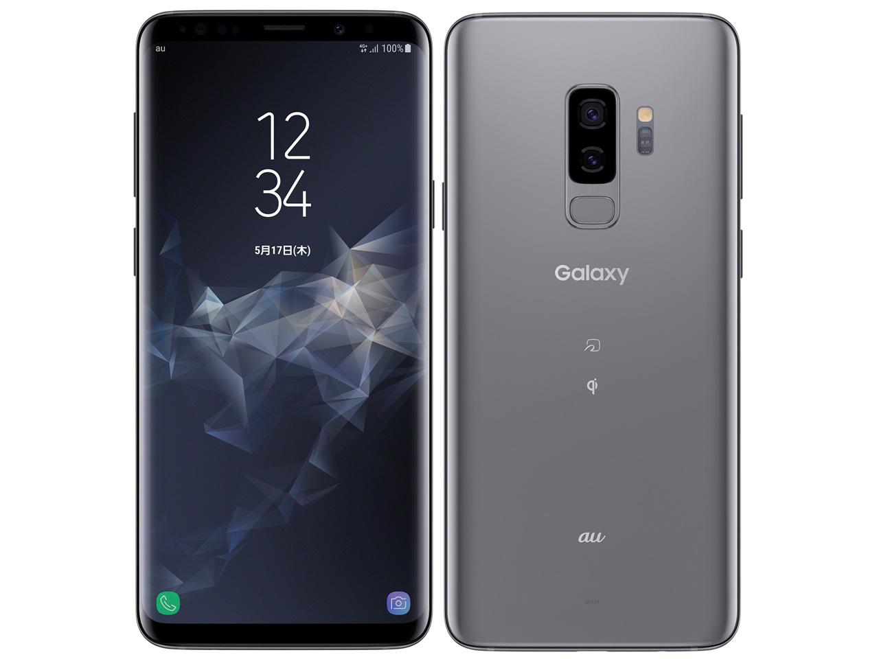 【新品・白ロム・本体】simロック解除済み au Galaxy S9+ SCV39チタニウムグレー SAMSUNG(サムスン) スマートフォン 携帯電話 SCV39 チタニウムグレー scv39