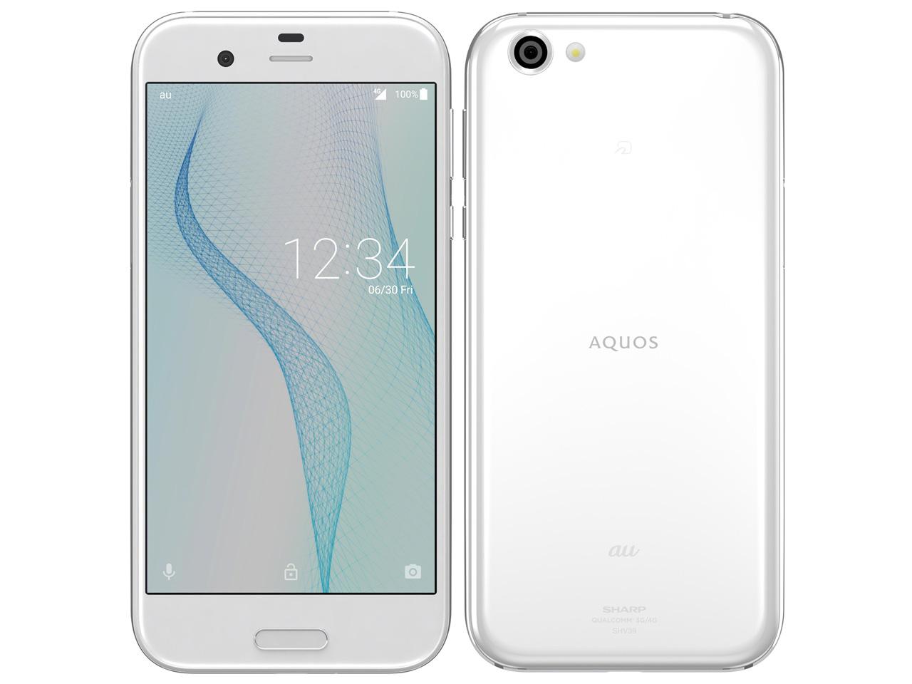 【新品・白ロム・本体】SIMロック解除済 au AQUOS R SHV39 ジルコニアホワイト White スマートフォン 携帯電話 SHARP(シャープ) SHV39 ホワイト shv39 shv39
