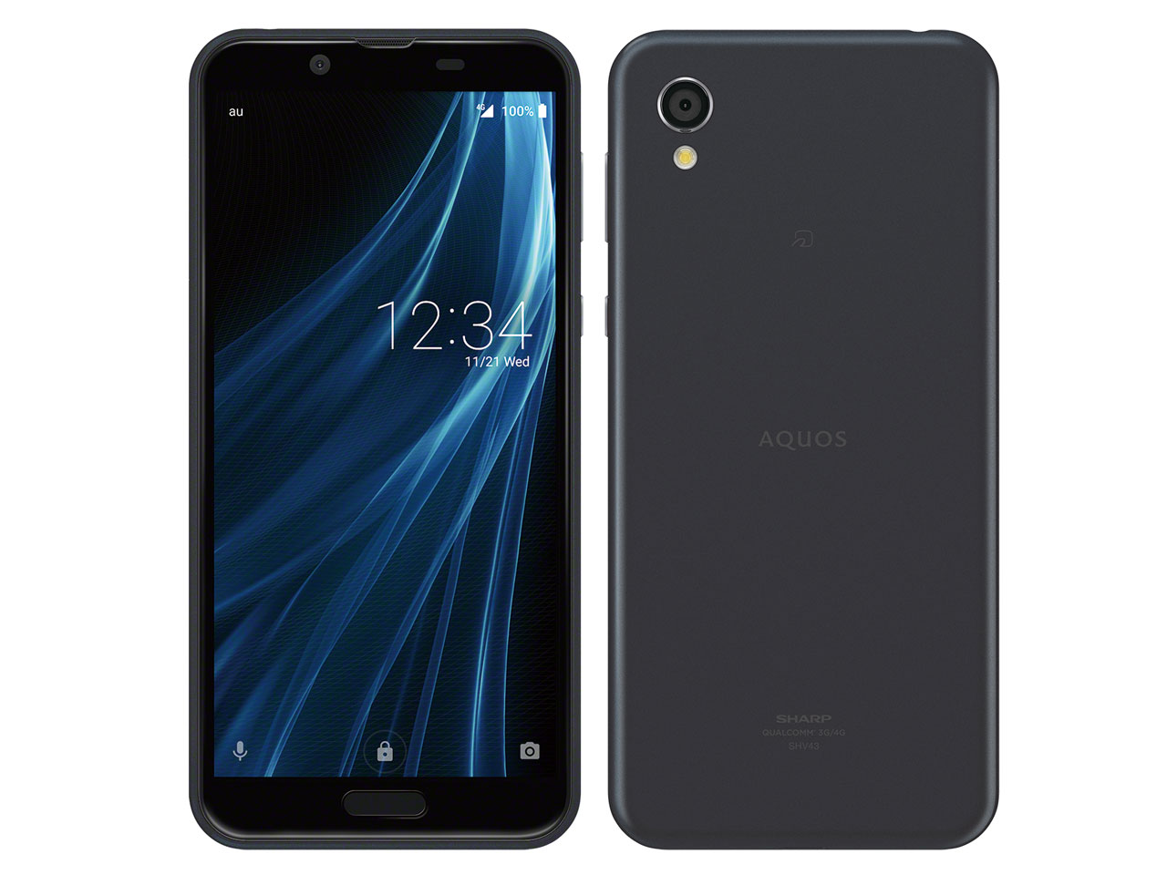 【新品・白ロム・本体】SIMロック解除済 au AQUOS sense2 SHV43 ニュアンスブラック Nuance Black スマートフォン 携帯電話 SHARP(シャープ) SHV43 shv43 shv43