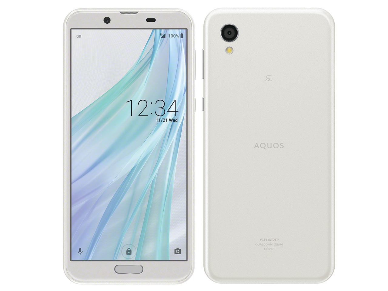 【新品・白ロム・本体】SIMロック解除済 au AQUOS sense2 SHV43 シルキーホワイト Silky White スマートフォン 携帯電話 SHARP(シャープ) SHV43 shv43 shv43