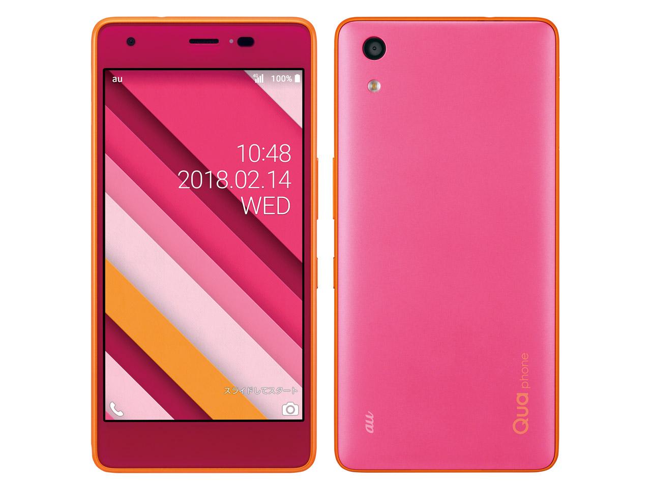 【新品・白ロム・本体】SIMロック解除済 au Qua phone QZ KYV44 ピンク 携帯電話 kyv44  kyv44 ピンク KYV44 Cassis Pink