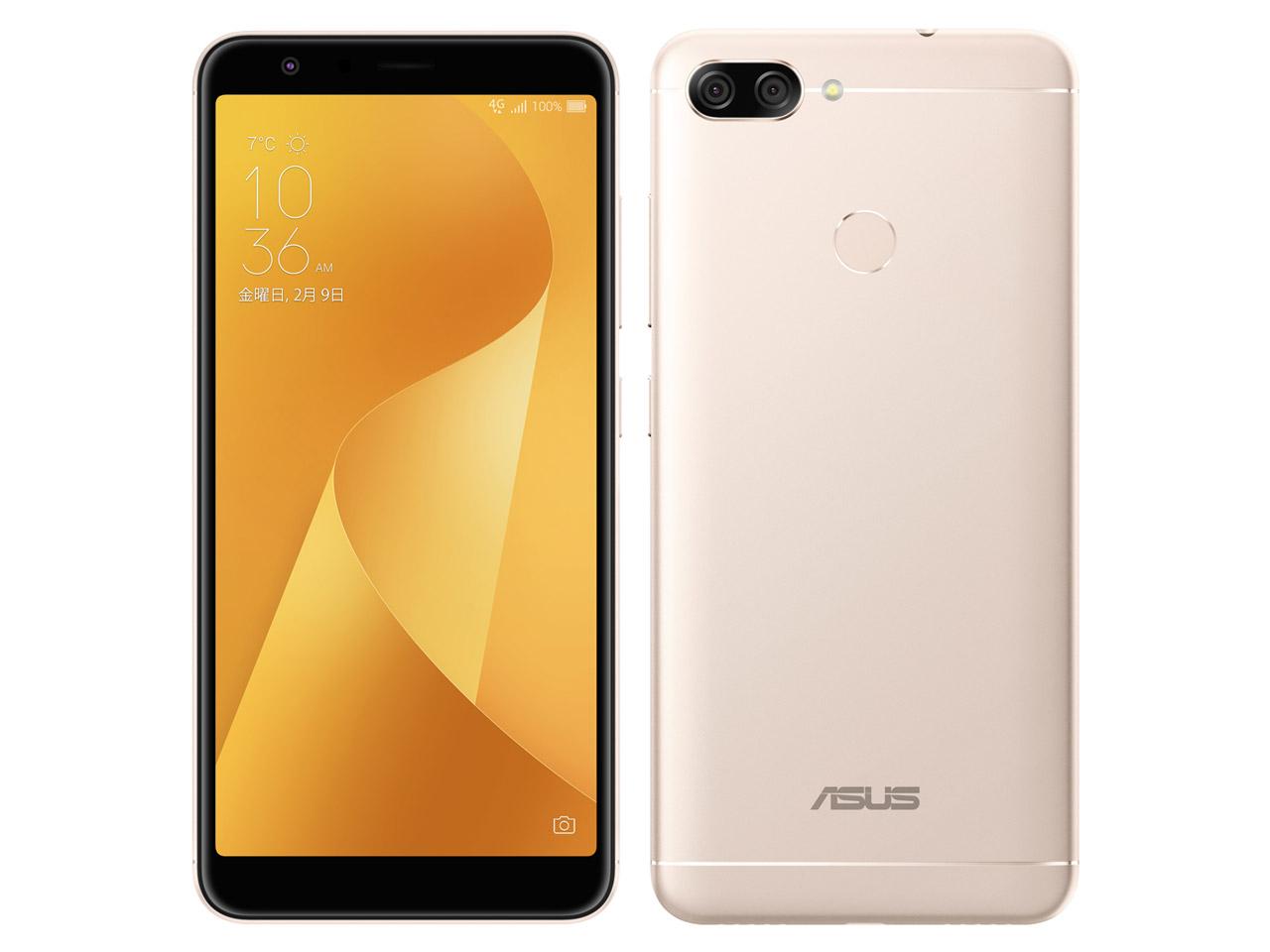 【新品未開封・白ロム・本体】SIMフリーエイスース ASUS ZenFone Max Plus (M1) ZB570TL-GD32S4 サンライトゴールド スマートフォン 携帯電話 zb570tl GOLD ZB570TL  zenfone max plus m1