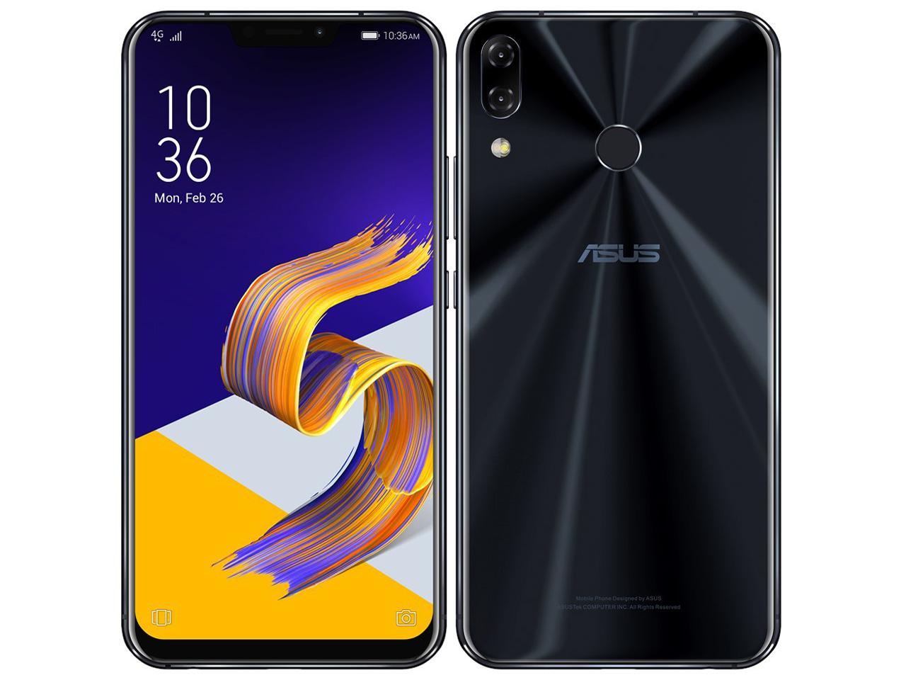 【新品未開封・白ロム・本体】SIMフリーASUS ZenFone 5Z ZS620KL-BK128S6 シャイニーブラック スマートフォン 携帯電話 zenfone 5z シャイニーブラック