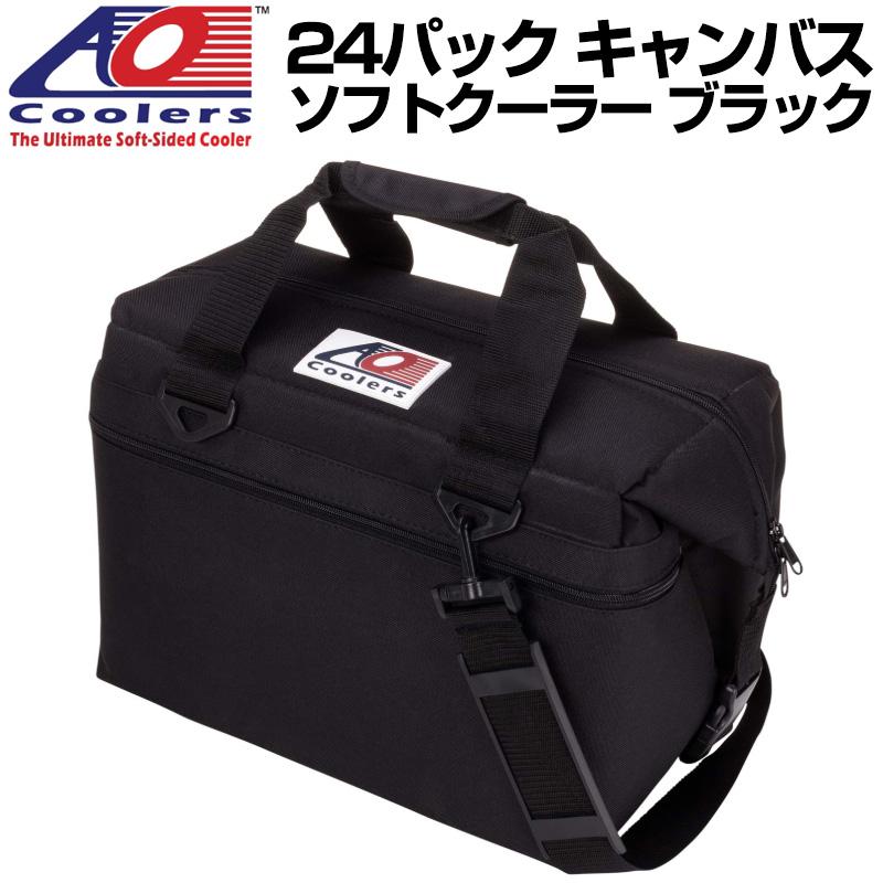AO Coolers AOクーラーズ 24パック キャンバス ソフトクーラー PACK CANVAS ブラック 896290001670 バッグ 保冷バッグ 軽量 保冷 保温 アウトドア キャンプ 並行輸入 送料無料