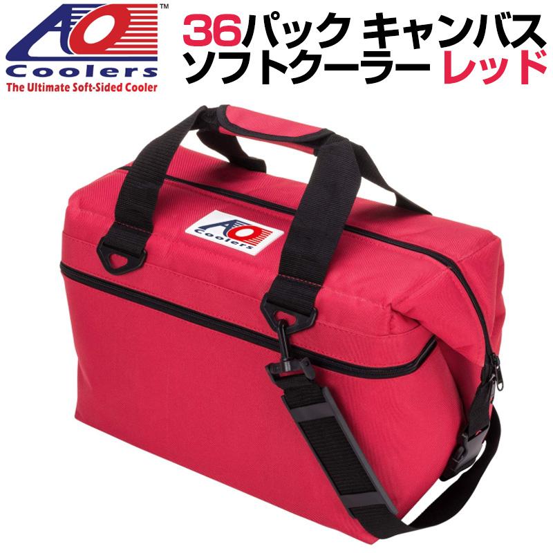 AO Coolers AOクーラーズ 36パック キャンバス ソフトクーラー PACK CANVAS レッド 896290001854 バッグ 保冷バッグ 軽量 保冷 保温 アウトドア キャンプ 並行輸入 送料無料
