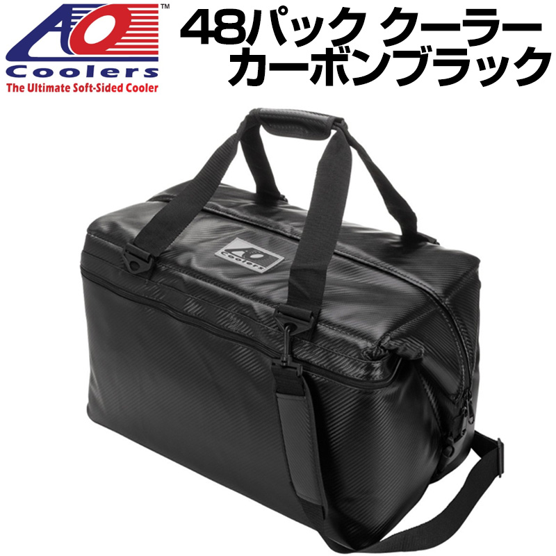 AO Coolers AOクーラーズ 48パック クーラー カーボン ブラック 保冷バッグ 並行輸入 送料無料