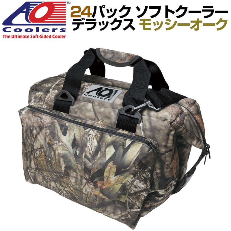 AO Coolers 24pack Deluxe Mossy Oak Cooler AOクーラーズ 24パック デラックス ソフトクーラー 保冷バッグ カモフラージュ柄 軽量 保冷 保温 アウトドア キャンプ モッシーオーク 並行輸入 送料無料