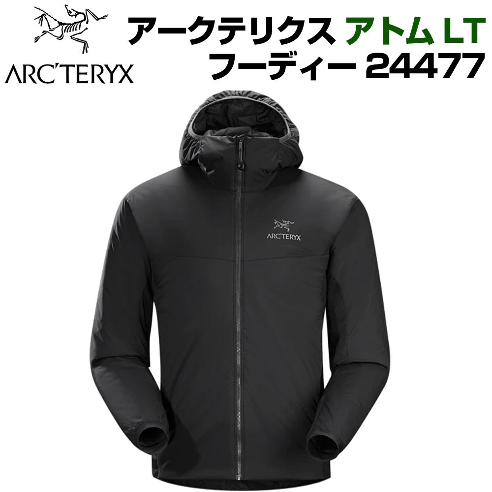 送料無料 Arc'teryx  Atom LT Hoody アークテリクス アトム エルティ フーディー メンズ ジャケット アウター XS S M L サイズ ブラック 黒 24477 並行輸入品