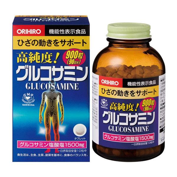 オリヒロ 高純度 グルコサミン 徳用 賞味期限2024.03 割引も実施中 900粒 外箱凹みあり 90日分 日本全国 送料無料
