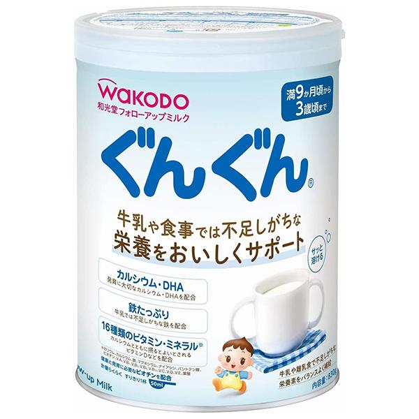 和光堂 フォローアップミルク ぐんぐん 粉ミルク 満9ヶ月頃から3歳頃 賞味期限2022.10 830g 缶僅かな凹みあり 新作からSALEアイテム等お得な商品満載 販売 ベビーミルク
