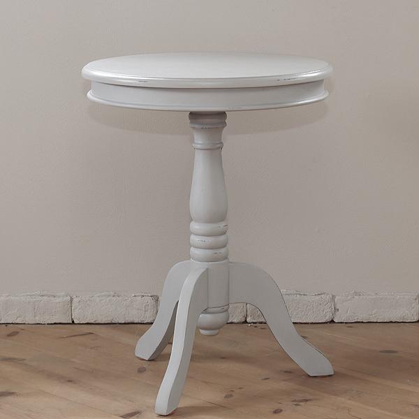 テーブル おしゃれ 完成品 サイドテーブル お中元 丸テーブル 821e-fdr25gy フレンチ アンティークグレー お気に入り フレンチスタイル アンティーク風