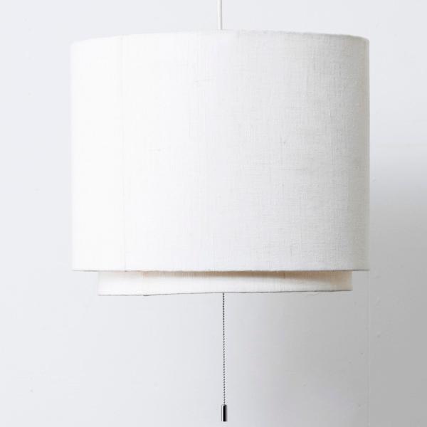 【※LED専用 シェード、灯具セット】ファブリックシェード3灯 レイヤー [電球別売]  0052-li-te734