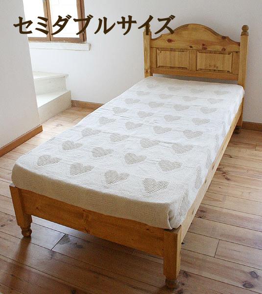 ベッド ベット セミダブル 木製 寝室家具 ロマンチック 北欧 カフェ ナチュラル モダン パイン材 模様替え 引越し 入学 新生活 新築 ベッド:サニーサイドベッド(セミダブル) 木製0155-bd-SSB-SD