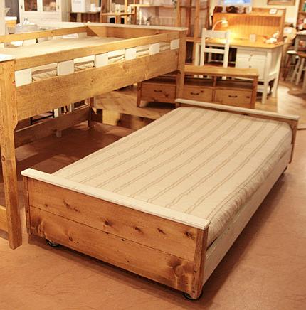 ベッド ベット 2段ベッド 子供部屋 キッズ 入学祝い 入園祝い 木製 寝室家具 おしゃれ アンティーク プレゼント ギフト お祝 贈り物 2段ベッド下部ベッドのみ0220-bd-RT-601-L