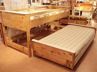 ベッド ベット 2段ベッド 子供部屋 キッズ 入学祝い 入園祝い 木製 寝室家具 おしゃれ アンティーク プレゼント ギフト お祝 贈り物 2段ベッド0220-bd-RT-601