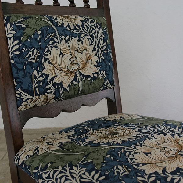 椅子椅子椅子椅子椅子木制天然餐厅设计布张力沙发椅子新生活室内装饰家具礼物入学餐厅椅子威廉莫里斯Chrysanthemum kurisantimamu 0053-ch-MT-JG708-chr
