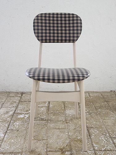 椅子 イス いす チェア チェアー 革 レザーチェア 座面 デザイン 北欧 ナチュラル カントリー パイン材 新生活 インテリア 家具 完成Pin Chair びょう打ち ギンガムチェック紺WH色(ラミネート加工)0666-ch-Pin-7-MG19WH