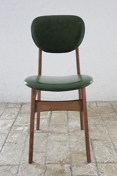 椅子 イス いす チェア チェアー 革 レザーチェア 座面 デザイン 北欧 ナチュラル カントリー パイン材 新生活 インテリア 家具 完成チェア Pin Chair びょう打ちグリーン0666-ch-Pin-GR