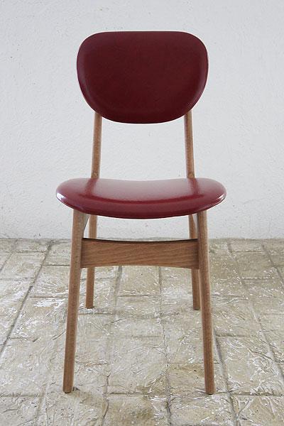 椅子 イス いす チェア チェアー 革 レザーチェア 座面 デザイン 北欧 ナチュラル カントリー パイン材 新生活 インテリア 家具 完成チェア Pin Chair びょう打ちレッド0666-ch-Pin-RD