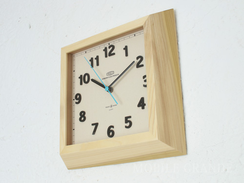 時計 掛け時計 壁掛け時計 日本製 カフェスタイル インテリア雑貨 プレゼント ギフト お祝 贈り物 贈答 新築 シンプル おしゃれ かわいスクエア掛け時計 NATURAL0403-zk-TSI-026NA