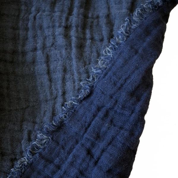 フランス Beatrice LAVAL マルチカバー ベッドスプレッド ブランケット インディゴ色  0814-zk-021466-122