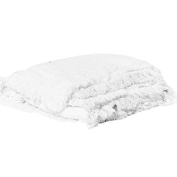 キルト マルチカバー ベッドスプレッド フランス雑貨 Bed and philosophy 150x150 カバーリングタイプ ホワイト  0827-zk-snob1-blanc