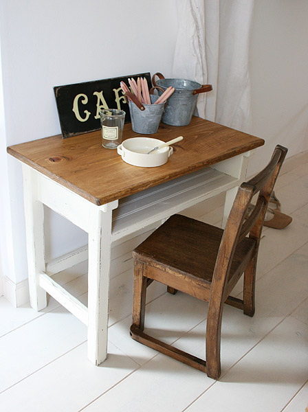 Rustic Pine One Desk Learning Study Computer Children S