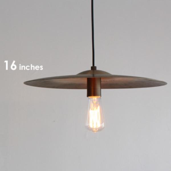 ペンダントライト 照明 照明器具 Cymbal pendant lamp シンバル ペンダントランプ 16インチ ディクラッセ  0510-li-lp3065gd
