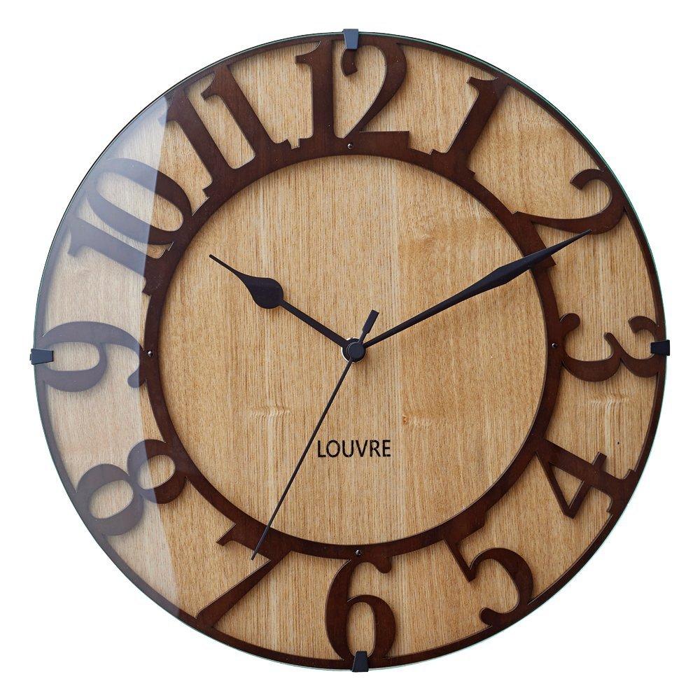 時計 電波時計 掛け時計 壁掛け時計 ブランド カフェスタイル インテリア雑貨 プレゼント ギフト お祝 贈り物 贈答 新築 シンプルインターフォルム(INTERFORM INC.) 電波掛け時計 Mus?e woodミュゼ ウッド0252-zk-CL-8333-1