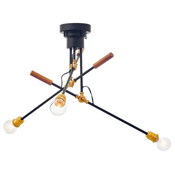 3灯可動式アームライト Franz[フランツ] E26/60W φ70 クリアボール球(白熱電球)×3付  252l-lt-3822